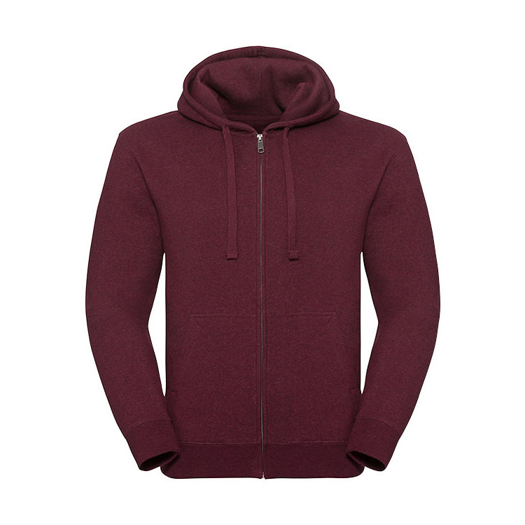Men´s Authentic Melange Zipped Hood Sweat