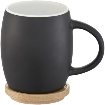 Hearth mugg med trälock/fat