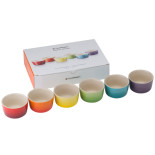 Le Creuset Rainbow mini ramekin, 6-pack