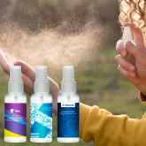 Handsprit med spray 50ml - inkl. egen etikett 80% Alkohol (WHO recept)