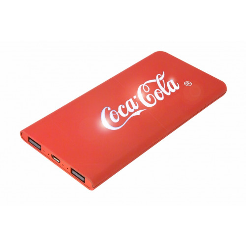 Ultratunn LED Powerbank 6000mAh inkl. upplyst logo