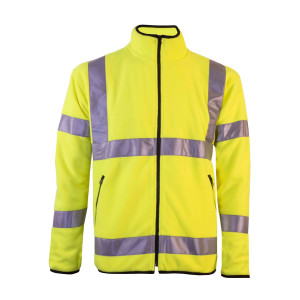 Hi-vis microfleece jacket