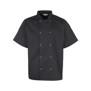 Short Sleeve Studded Chefs Jacket