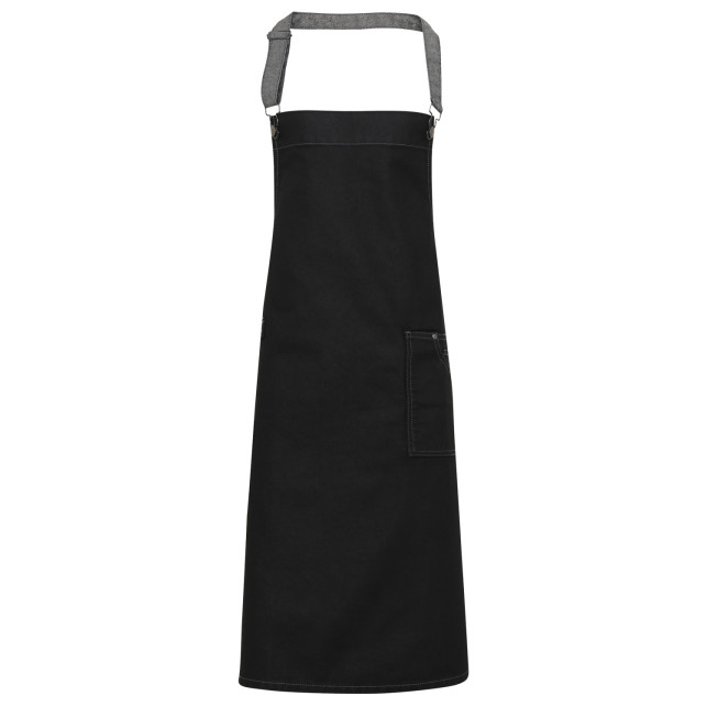 District Wax Bib Apron